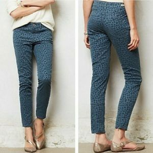 Pilcro • Leopard Print Velvet Pants